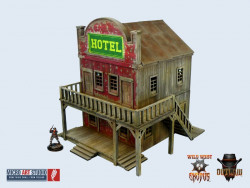 Western Hotel - wargaming terrain