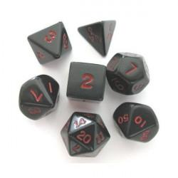 Set de dés - Opaque - Noir/Rouge
