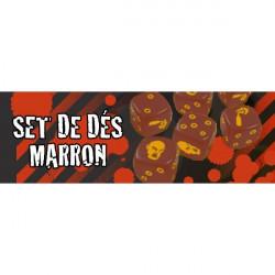 Zombicide : Set de Dés Marron
