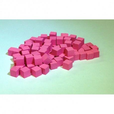 100 cubes bois roses 8mm pas cher