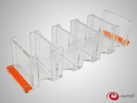 Distributeur de cartes : e-Raptor Card Holder - 5S Transparent pas cher