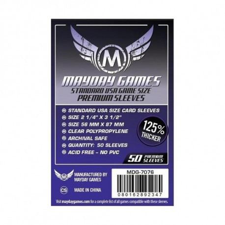 Protège Cartes Standard Usa Premium Card Sleeves - 56x87mm (x50) MAYDAY GAMES