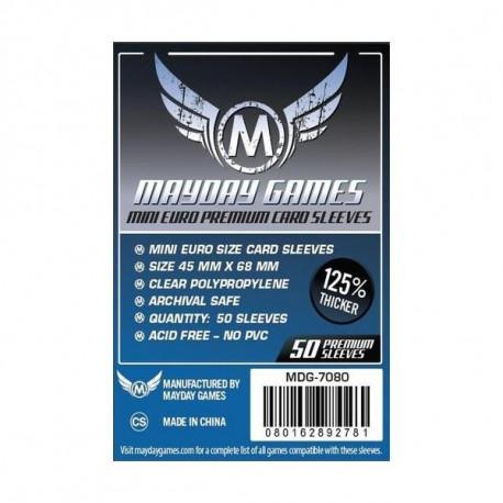 Protège Cartes Mini Euro Premium Sleeves - 45x68 mm (x50) MAYDAY GAMES