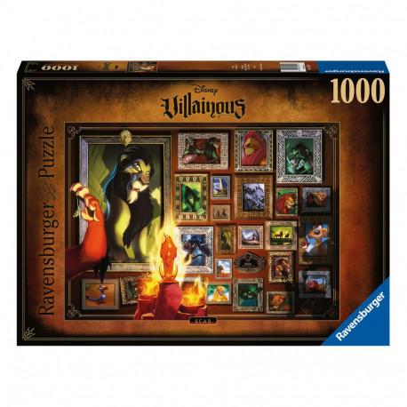 Puzzle Disney Villainous Roi lion - Scar (1000 pièces)