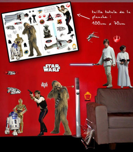STAR WARS - Stickers - 100x70cm - Rebels