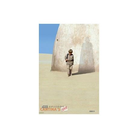 """STAR WARS - Poster """"""""Anakin épisode 1"""" roulé filmé (98x68)"""