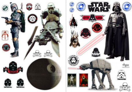 STAR WARS - Stickers - 100x70cm - L'empire