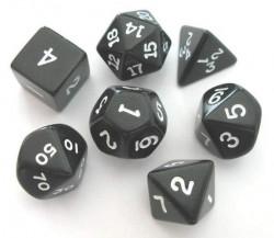 Set de dés - Opaque - Noir/Blanc