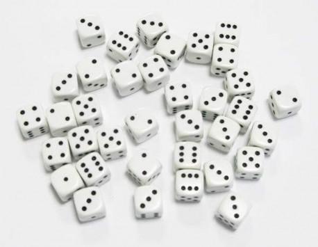 Lot de 36 dés Blanc GRANITé ARCTIC