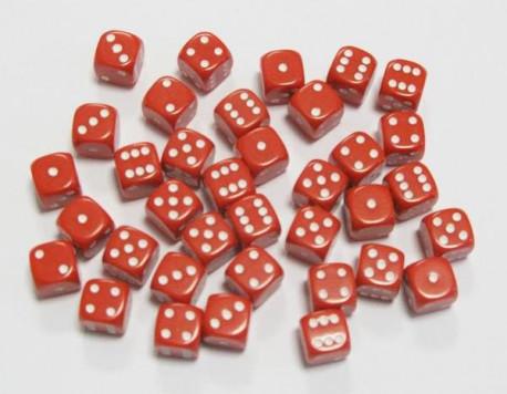 Lot de 36 dés Rouge
