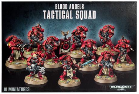 W40K :  Blood Angels - Tactical Squad - Adeptus Astartes